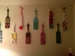 The paddle wall in my apartment.